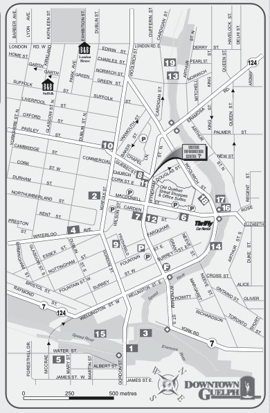 Map of Guelph downtown